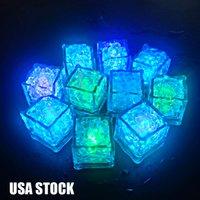 Mini partito luci quadrate colorate altri cambiamenti di ghiaccio a LED cubetti di ghiaccio incandescente lampeggiante lampeggiante novità rifornimento di USA