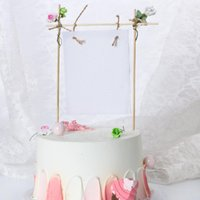 Other Festive & Party Supplies Ins Card Happy Birthday Cake Topper DIY Flowers Wedding Cupcake Decoration For Baby Shower Baking
