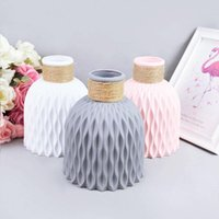 1Pcs Flower Vase Decoration Modern Plastic Vases Imitation Ceramic Pot For Wedding Party Home Living Room