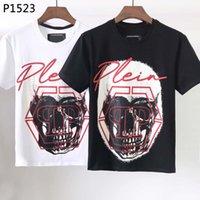 PP Men T Shirt Spring y Chaquetas de verano Impresión de algodón de alta calidad Manga corta Cuello redondo Tamaño de la camiseta de lujo Tamaño: M-3XL Skull K34