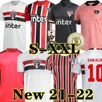 Dani Alves PATO 20 22 Sao Paulo 축구 유니폼 세 번째 멀리 블랙 레드 2021 2022 Hernanes Club 홈 화이트 축구 셔츠