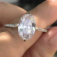 Cluster Rings ANZIW Fashion 925 Sterling Silver Big Oval Bands Ring Wedding Engagement Bridal For Women Party Lover Jewelry Gifts