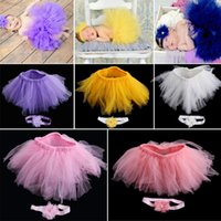 Caps & Hats Baby Girls Dress Handmade Flower Tire Born Pography Props Accessories Kids Clothing Po