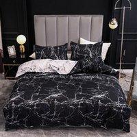 مجموعات الفراش أزياء الرخام السرير الكتان غطاء لحاف مجموعة المعزي لحاف وسادة القضية المنسوجات للديكور المنزل