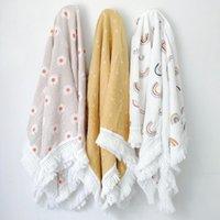 53 stili in cotone per bambini stampato tassel trapunte baby garza wrapping asciugamano per bambini carrello copertina coperta