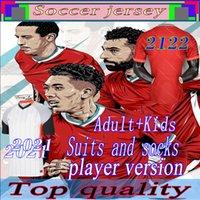20 21 22 Jogador Versão Lvp Futebol Jerseys Gerrard Edição Especial Smicante Alonso Hamann Barnes Kuyt Cisse Novo 2021 Camisa de Futebol Homens + Crianças Terno