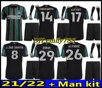 Erwachsene Kit # 9 Ibrahimovic Fussball Fußball 2021 2022 La Galaxy Herren Kit Home Away Fussball Jersey 21 22 # 8 Gerrard Beckham Jerseys + Shorts