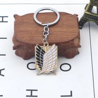 Attack On Titan Keychain Shingeki No Kyojin Anime Cosplay Wings of Liberty Key Chain Rings For Motorcycle Car Keys Gifts llavero