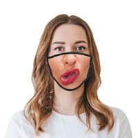 2021 Réutilisable lavable Funny Fashion Face Masque 3D Expression Émotions Masques de personnalité Masques anti-poussière Haze Haze-Respirant Masques 637 R2