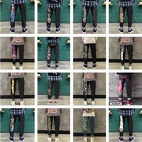 2021 latest designer jean men's slim fit straight tube loose middle waist holed jeans pants retro 21 color men and womenshuangsushuangsu_yw