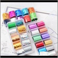 Adesivos Decalques Rolls Conjunto de Papel Estrela Misto Conjunto de Papel 10 Pcs Cor Transparente Nail Art Transferência Manicure DIY Adesivo Decoração 6v49t Jt7vy