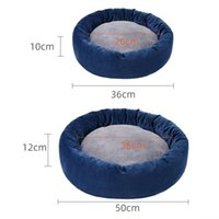 Cat Beds & Furniture Super Soft Dog Bed Mat House Round Cushion Improved Sleep Pet Accessories H55A