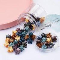 ヘアアクセサリー40ピースミニプラスチック滑り止め花デザイン爪クリップのための小さな子供の普遍的なヘアピン