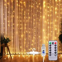 Strings 300LED Christmas String Lights USB Powered Warm White Light 8 Modes Remote Control Waterproof Holiday Party Window Curtain Decor