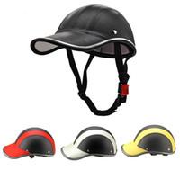Caschi per moto Casco Head Face Baseball Berretto da baseball Bicycle Vintage For Men Donne Electric Vehicle Security Hard Hat