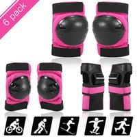 6 in 1 Protective Gear Set Knee Elbow Wrist Guards Kids   Adults Scooter Skating Cycling Sports Safety Protection Pads