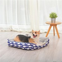 Kennels & Pens Pet Dog Cat Bed Warming House Sofa Soft Warm Nest Baskets Winter Kennel For Puppy Supplies