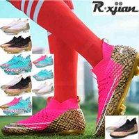 Zapatos de fútbol R Xjian Marca Femenina High Single Football Zapatos Hombres Mujeres Respiración al aire libre Top Tim Turf Día 0904