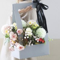 Gift Wrap 1PC Packing Box Flower Carrier Bag Bouquet Waterproof Creative Multifunction Paper DIY Craft Festival Supplies