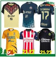 21 22 Clube do México América Tigres Unam Chivas Soccer Jersey 2021 2022 H Lozano dos Santos Chicharito Sports Football Shirts