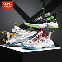 Student low-top mesh breathable running sneakers thick-soled increased daddy shoes men's casual travel #Ms0i
