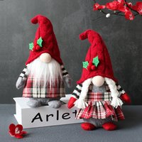 Christmas Decorations Cute Gnome Plush Doll Faceless Party Props With Hooded Home Table Gnomes Decor For Ornament Gifts w-00974