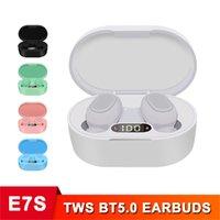 E7S Tws Pro Handsfree Bluetooth Earbuds Earphones, Noise Canceling Headphone,Aptx in Ear Headphones,Sport Fones Bluetooth. Headph1