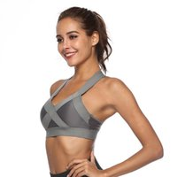 Women's Tanks & Camis Women Stylish Bounce High Impact Lightweight Sports Bra Wide Strap Running Yoga Solid Color Proof Wire Free Brea