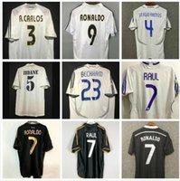 Retro 2010 11 12 Real Madrid Soccer Jersey Guti McManaman 13 14 15 Ronaldo Zidane Beckham 06 07 Raul Robinho 1999 2000 Carlos 94 95 96