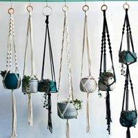 Planters & Pots Arrival 100% Handmade Macrame Plant Hanger Pot Holder Hanging For Home Garden