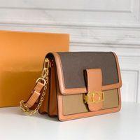 Postman Womens One-phile Brockboby сумка 2021 модная многослойная цепь напечатанный скрещивание сумки женщин