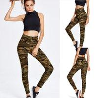 Women's Leggings ISHOWTIENDA Fashion High Stretch Camouflage Print Sweatpants Casual Bottoms Leginsy Damskie Vetement Femme