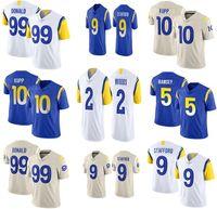 9 Matthew Stafford Football Jersey 99 Aaron Donald 10 Cooper Kupp 5 Jalen Ramsey 2 Robert Woods 2011 Herren Trikots
