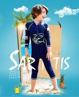 Swimwear da uomo maniche lunghe per bambini mute zipper con cerniera stampa squalo boys tute tute per bambini custodie per bambini custodie per bambini