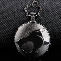 Relógios de Bolso Preto Estilo Cool Quartzo Relógio Besta Esculpida Cor Dial Homens Mulheres Analog Colar Acessórios Pingente Sells Direct
