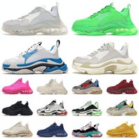 zapatos balenciaga balenciaca triple s Crystal Clear Sole Triple s Platform Casual Sports Shoes Designer Paris 17FW para hombre mujer Moda Vintage Old Dad Sneakers Trainers