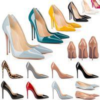 2021 Red Bottom Heels Shoes Moda Donna Vera pelle Abito Peep-toes Sandali Piattaforma tacco alto Designer Décolleté a punta Mocassini Gomma 35-42