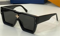 2021 Estilo de passarela Moda Óculos de Sol Z2188 Quadrado Quadrado Placa de Placa Quadro com Decoração de Cristal Design De Avant-Gardas Ao Ar Livre UV400 Óculos de Proteção