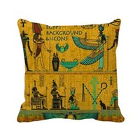 Pillow Ancient Egypt Pharaoh Art Pattern Throw Square Cover
