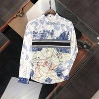 Erkek Tasarımcı Gömlek Renk At Klasik Beyefendi Tüm Maç Gevşek Uzun Kollu Rahat Sokak Gömlek Uzun Kollu Mans Sonbahar Kış Giyim Boyutu M-3XL