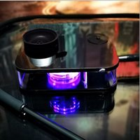 led hookahs Accessories with light Arab Square box carbon cap Acrylic Bar hookah set 5 colors Water pipe bong