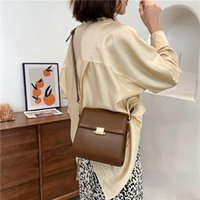 Retro Women Shoulder Bags Designer Crossbody Bags Simple PU Leather Small Square Bag Youth High Quality For Go To Work