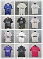 Real Madrid Retro Jerseys Vintage Clássico 05 06 Zidane Beckham Ronaldo Carlos Raul Futebol Jerseys Camisetas Futbol Maillot de pé