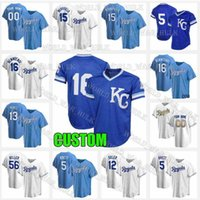 16 Bo Jackson Jersey Royals 5 George Brett Alex Gordon Andrew Benintendi 15 Whit Merrifield Salvador Perez 레트로 망 맞춤 메쉬 야구