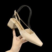 Sandals Block Heels Female Sandal Square Toe Spring Shoes Espadrilles Platform All-Match 2021 Summer Chunky Girls High Closed Beige Fash