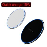 LED light 15W Fast Wireless Charger For Phone 11 Pro XS Max XR X 8 Plus Samsung S10 S9 S8 S7 Edge Note 10 USB Qi Charging Pad with Retail Box