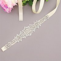 Custom Made Belts Satin Belt With Rhinestones Beads Wedding Accessories Bridal Ribbon Sash For Prom Gowns
