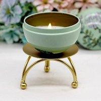 Geometrica rotonda in ferro battuto candeliere decorazione da tavolo retrò portacandele Holder Holders Scrivania