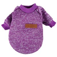 Dog Apparel Classic Winter Warm Clothes Puppy Cat Jacket Fashion Soft Sweater For Chihuahua Yorkie S Purple