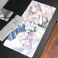 Fare Pedleri Bilek Dinlenmek Pinktortoise Anime Evelyn Devolugard Mousepad HD Baskı Bilgisayar Kilitleme Kilidi Kenar Pad Klavye PC Danışma CSGO
